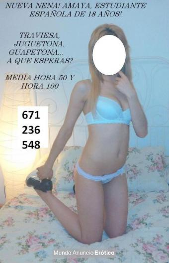 Fotos de AMAYA, NENITA ESPAÑOLA DE 19 AÑOS, TE QUIERE PONER A MIL...TE VAS A RESISTIR?? A